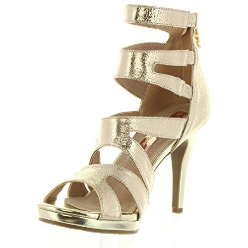 XTI Sandali per Donna 30613 Metalizado Oro