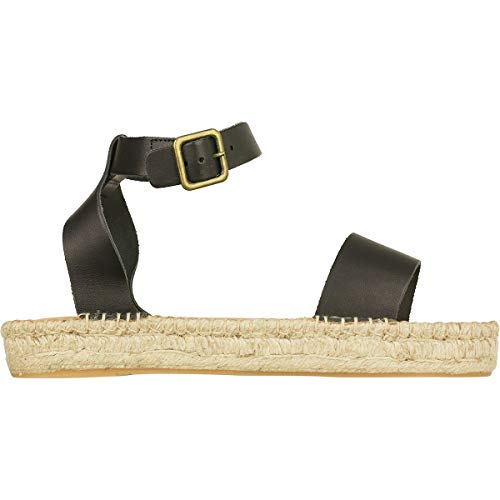 - Soludos Cadiz Sandal - Women's Black/Vachetta Leather, 6.5