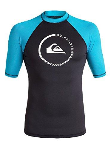 k up Short Sleeve Rash Guard, Black/Hawaiian Ocean, X-Large (Hawaiian Rash Guard Shirt)