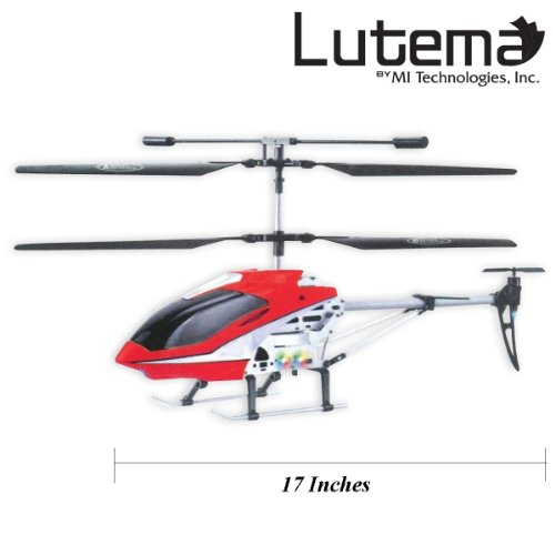 Lutema Mid-Sized 3.5CH Remote Control Helicopter, Red from Lutema
