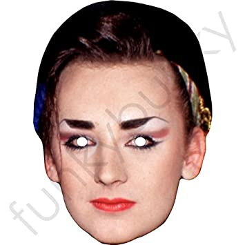 Fun Stag/&Hen Parties! Boy George 1980/'s Celebrity Card Mask