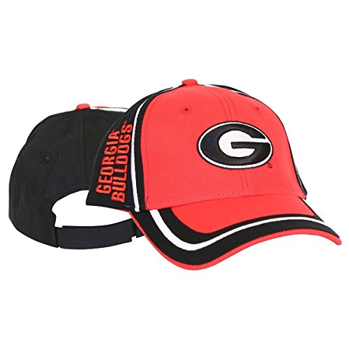 大きい漏斗迷彩NCAA Officially Licensed Georgia Bulldogsトリムスタイル調整可能野球帽子