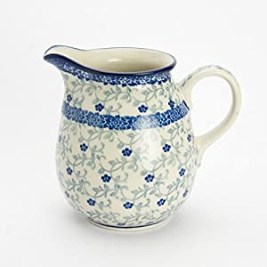 Polish Pottery Creamer Milk Jug – Forget-me-not