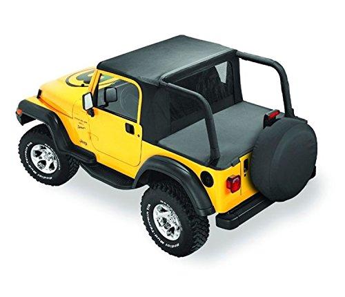 Sunrider Black Denim - Bestop 53809-15 Black Denim Halftop without doors for1997-2002 Jeep Wrangler