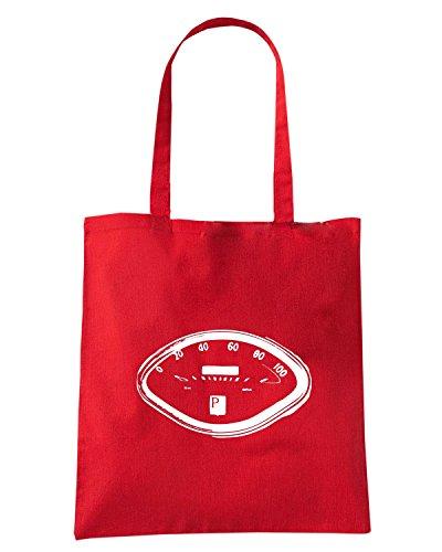 T-Shirtshock - Bolsa para la compra WC0258 Classic Piaggio Vespa Speedo Rojo