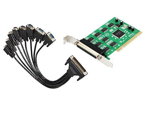 Moschip 16C1058 8-Port Serial PCI card with fan out cable PCI to 8 RS232 DB9 Ports converter Industrial IO card ()