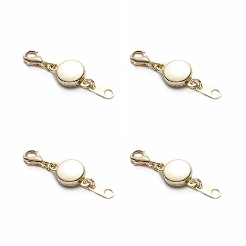 SYGY 4 Pcs Gold tone and Silver Tone Rose gold Black Heart magnetic clasps for jewelry