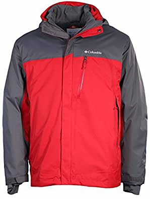 Columbia Men's Rural Mountain Interchange Omni Heat Jacket-Red/Gray-Small