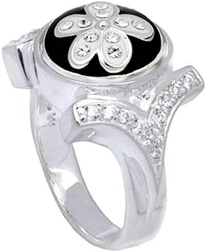 Kameleon CZ Shank Ring Size 7 * Jewelpop Authentic Silver New KR04size7