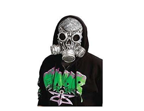 [Zombie Costume Accessory BIO Zombie Mask Gas Mask Silver] (Gas Mask Costume Accessory)