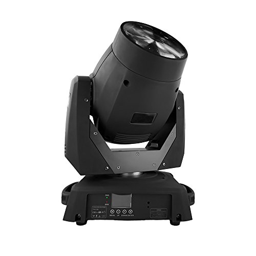 STSLITE Stage Lights Moving Head Beam 75W White LED with Color Gobo Wheel for Party Pub Wedding DJ Night Club Family of Stage Lighting (75W, Black) -