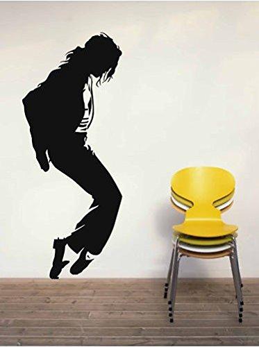 Vinilo Decorativo Michael Jackson 1.(144x60cm aprox.) color negro. Vinilo: Avery Dennison