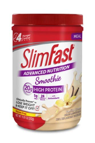 SlimFast Advanced Nutrition High Protein Meal Replacement Smoothie (Pack of 20)
