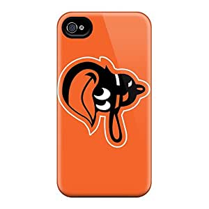 Scratch Resistant Hard Phone Case For Iphone 4/4s With Unique Design High Resolution Baltimore Orioles Image AnnaDubois