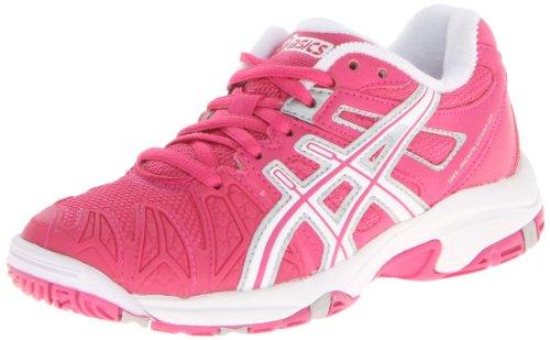 ASICS Gel-Resolution 5 GS Tennis Shoe (Little Kid/Big Kid),Fuschia/White/Silver,5.5 M US Big Kid