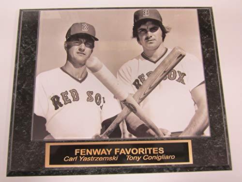 Carl Yastrzemski Tony Conigliaro Red Sox Collector Plaque w/8x10 Photo