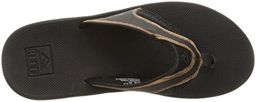 Sandali Uomo In Pelle Di Corallo Nero Smerigliato Sandalo Nero Indossato