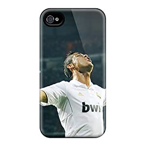 Great Hard Cell-phone Case For Apple Iphone 4/4s With Custom Stylish Cristiano Ronaldo Goal Celebration Pictures JohnPrimeauMaurice