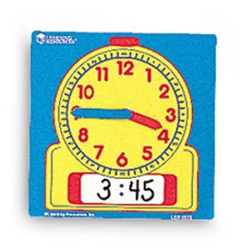 9 Pack LEARNING RESOURCES WRITE-ON/WIPE-OFF CLOCKS 10/PK by Learning Resources