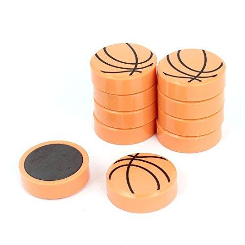 10pcs en plastique de style de basket-ball aimants pour réfrigérateur autocollant Décor DealMux DLM-B00W8WHEIE