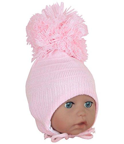 BabyPrem Baby Hat Waffle Knit Trapper Fleece Lining Winter Clothes Boy Blue 0-3 Months
