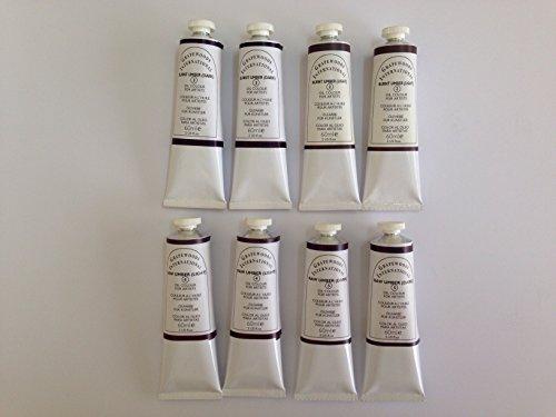 Umbers,extrafine oil paint (8 handmade oil color tubes 60ml each). Burnt umber light,Burnt umber dark,Raw umber light,Raw umber dark. (Umber Light Raw)