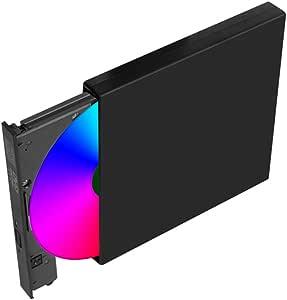 LZXG CD CD Burner USB Externa Unidad óptica de DVD Caja de ...