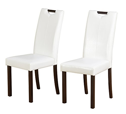Target Marketing Systems 18018WHT PR Tilo Dining Chairs, White