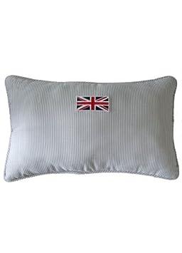 Cortina Casa - Cojín rayas finas bandera Inglesa Gris ...