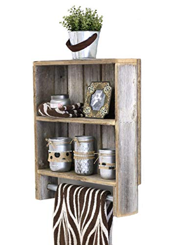 Buy wood towel rack with shelf