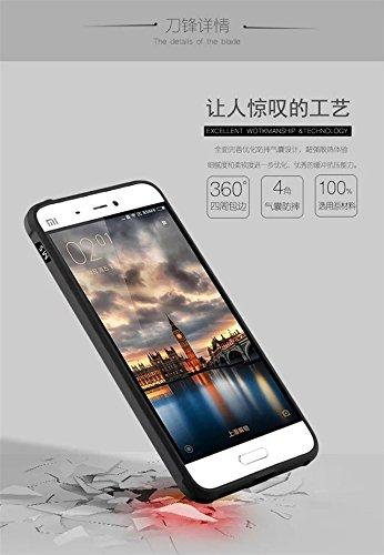 Xiaomi MI5 caso ultra delgado, la auténtica calidad todo incluido la protección de silicona suave de nuevo caso de borde antichoque para Xiaomi MI5 ( Color : Blue , Size : Solid Pattern ) Black