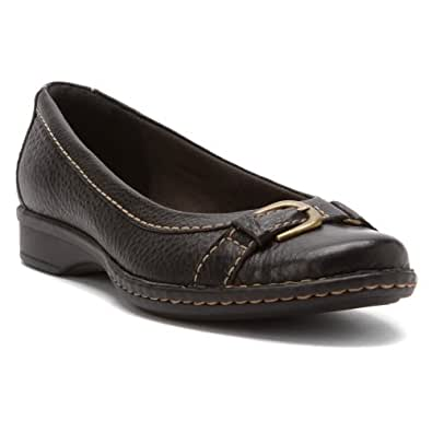 Clarks Women's Recent Bengal Black Flat 6 B - Medium