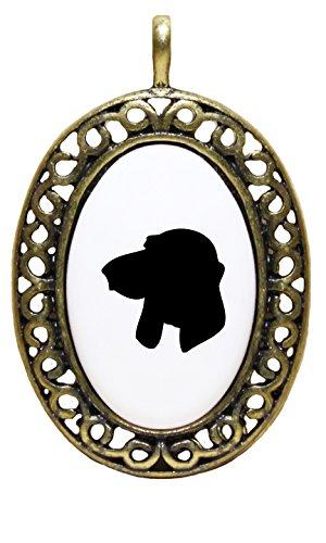 Price comparison product image Berner Laufhund Silluette Porcelain Pendant Antique Style Frame