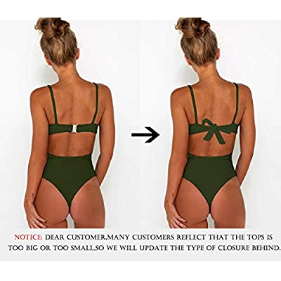 CHYRII Women's Sexy Criss Cross High Waisted Cut Out One Piece Monokini Swimsuit at Women's Clothing store