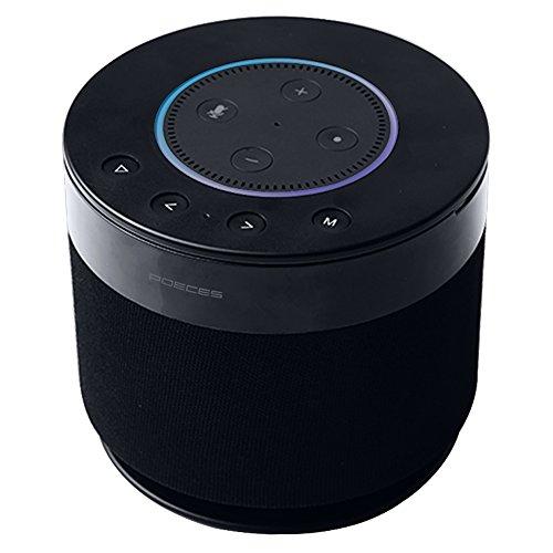 POECES Power+Cordless Portable Speaker for Dot 2nd Generation, 15W 360-degree Powerful Sound Alexa Speakers, 5200mAh Power Supply for Your Dot(Dot not Included) (DOT-FBA) (Best Speaker For Dot)