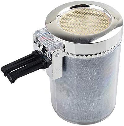EUEMCH 車旅行LEDライト灰皿無煙シルバー家庭用、屋外灰皿ユニバーサル