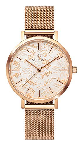 ORPHELIA Lace OR12805 Women's Watch 36mm,Stainless Steel Silver Strap Japanese Quartz