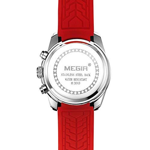 foreverwen Luminous Quartz Watch Fashion Casual Business Dress Wristwatch Waterproof Full Stainless Steel Analog Chronograph Three Time Keeping Indicator by foreverwen (Image #5)