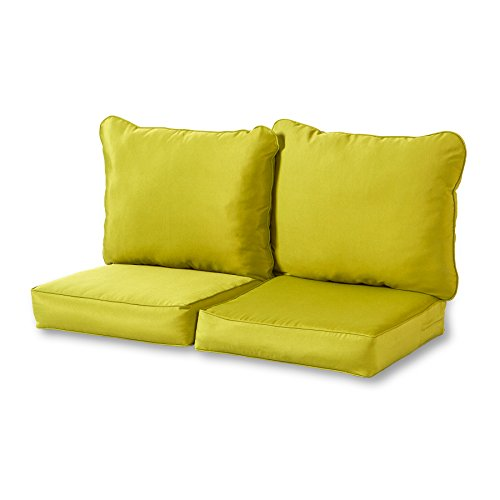 Greendale Home Fashions Deep Seat Loveseat Cushion Set, ()
