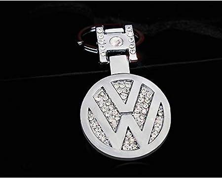 AutoDIY Audi car Keychain Car Logo Key Ring 3D Metal Emblem Pendant Double Side Zircon Crystal Decoration Lanyard Keychains Accessories for Gifts Audi