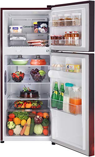 LG 260 L 2 Star Smart Inverter Frost-Free Double Door Refrigerator (GL-T292RSCY, Scarlet Charm, Convertible) 2021 July Frost Free Refrigerator: Auto defrost function to prevent ice-build up Capacity 260 L: Suitable for families with 2 to 3 members or bachelors Energy Rating: 2 Star