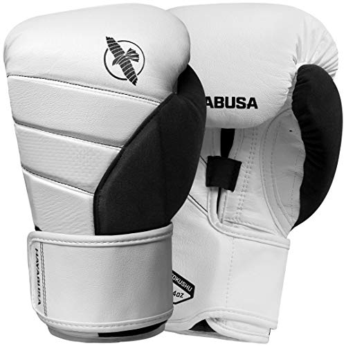Hayabusa T3 Boxing Gloves | Men and Women | White/Black |14oz | Bag Gloves