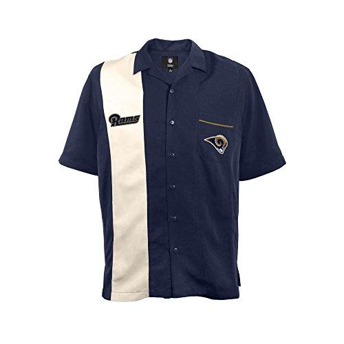 NFL Los Angeles Rams Strike Bowling Shirt, Medium