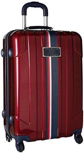 (Tommy Hilfiger Lochwood 25 Inch Spinner Luggage, Burgundy, One Size)