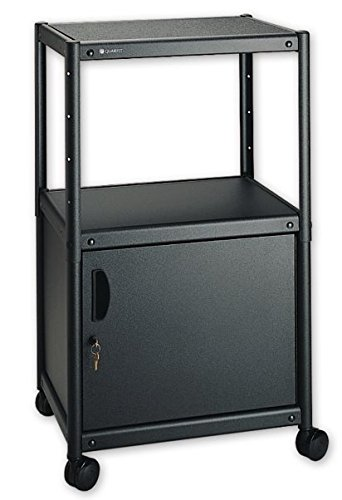 GBC Quartet 88342 5-in-1 Adjustable-Height AV Cart w/Cabi...