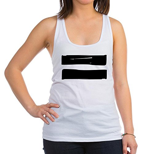 CafePress - EQUALITY GAY PRIDE EQUAL SIGN GAY MARRIAGE Racerba - Womens Racerback Tank Top, Stylish Cotton Sports Tank