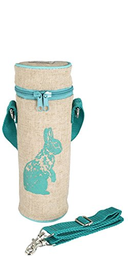 SoYoung Bottle Bags - Adult - Kids - Lunch - Insulated - Messenger Strap - Eco-Friendly - Hiking- Biking - Commuting - Aqua Bunny
