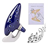 Legend of Zelda Ocarina 12 Hole Alto C with Song Book (Songs From the Legend of Zelda) (Blue)