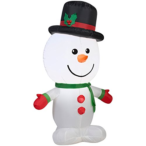Self-Inflate Outdoor Christmas Snowman Lighted Holiday Display (What Do Christmas Trees Represent)
