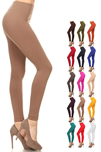 Fleece Leggings (One Size (Size 0-12), FLR-Mocha) -